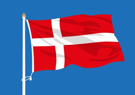 Denmark flag waving