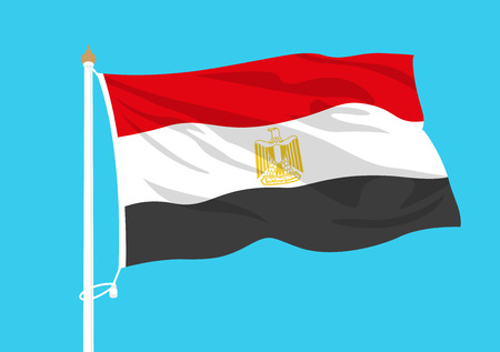 Egypt flag waving