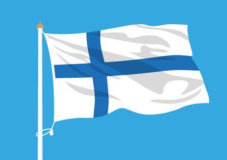 Finland flag waving Illustration