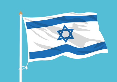 Israel flag waving