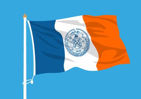 New York flag Illustration