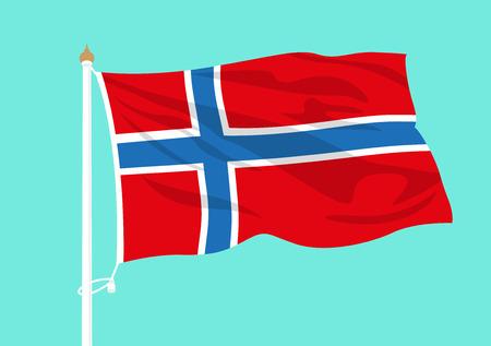 Norway flag waving Illustration
