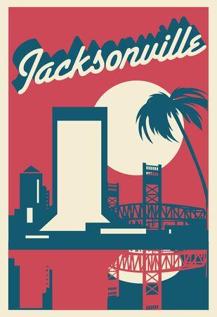 Jacksonville skyline Illustration