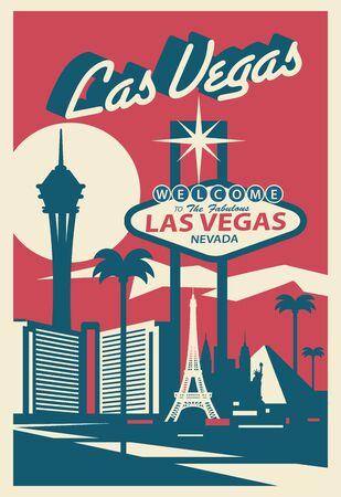 Las Vegas Nevada USA Skyline 向量圖像