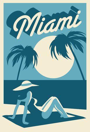 Miami Florida postcard