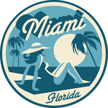Miami Florida symbol Illustration
