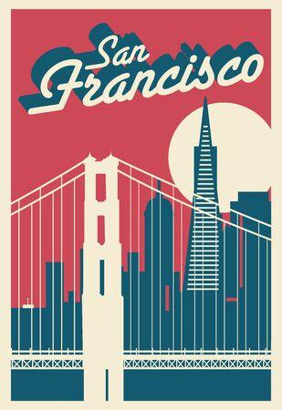 San Francisco California Illustration
