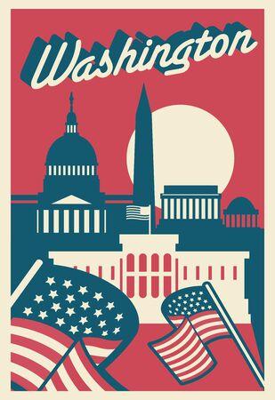 Washington DC skyline Illustration