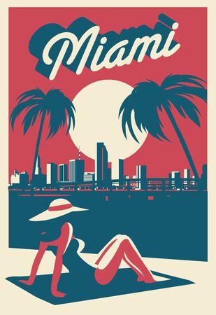 Miami Florida USA skyline