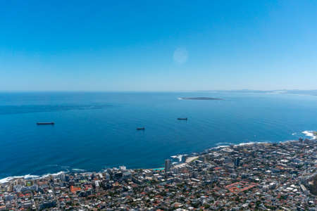 Top view to Cape Town city Stock Photo