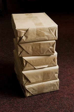 package on the floor Stock Photo - 7730536
