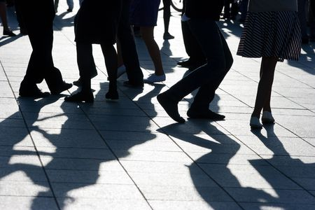 ombres sur le plancher de danse