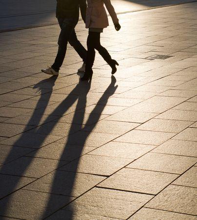 Soirée ombres et silhouettes dans le carré