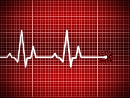 Cardiogram illustration with grid background illustration
