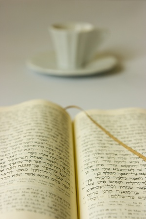 catholicity: Holy Bible and a cup of coffee