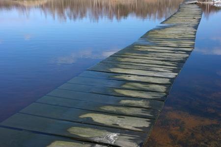across: A path across the flooded dunes