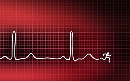 Cardiogram. Run away from heart attack