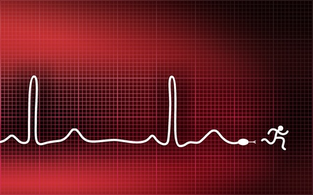 patient chart: Cardiogram-snake. Run away from heart attack