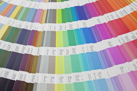 Detail of color scale on white background Stock Photo - 9072326