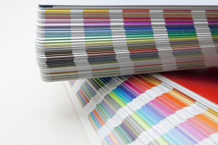 Detail of color scale on white background Stock Photo - 9072325