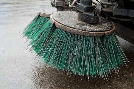 partie d'un véhicule de nettoyage des rues Banque d'images