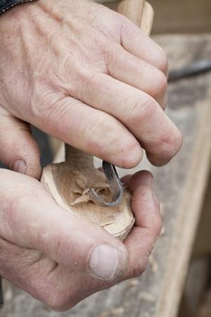 trinchante: talla de proceso con cincel metal