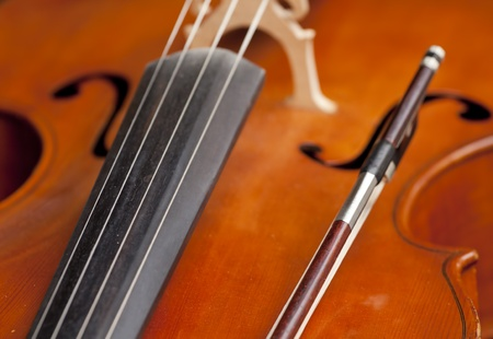 Violin with fiddlestick. Stock Photo - 9919958
