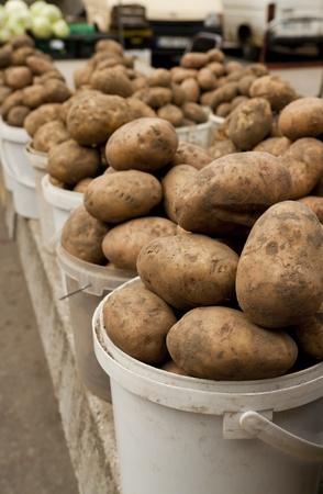 Potato on local market. This year harvest photo