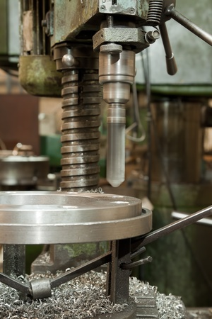 boring rig: Metal drill. Metal industrial machines and tools
