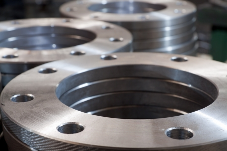 flanges: Metalwork. Metal industrial tools and production