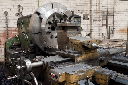 boring rig: Grinder. Metal industrial machines and tools Stock Photo