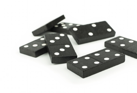 Domino isolated on white background Stock Photo - 11845688
