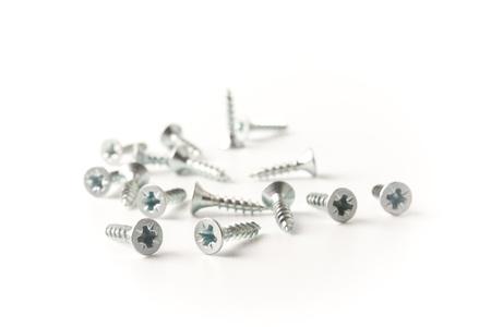 screws on the white background Stock Photo - 11937113