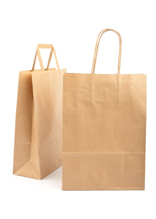 Paper bags on white background. Consumerism symbol. Stock Photo - 14127736