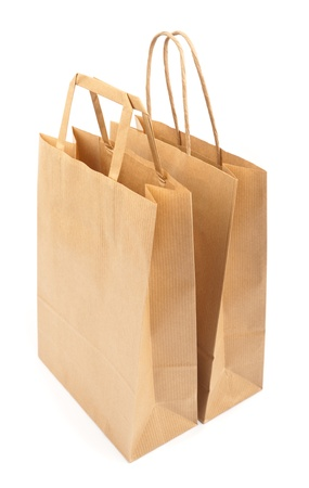 Paper bags on white background. Consumerism symbol. Stock Photo - 14127732