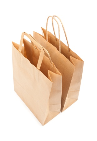 Paper bags on white background. Consumerism symbol. Stock Photo - 14127731
