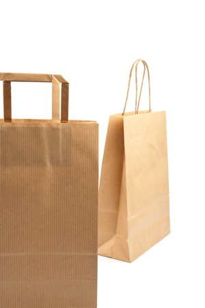 Paper bags on white background. Consumerism symbol. Stock Photo - 14127737