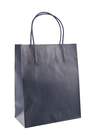 recycle bag: Paper bag on white background. Consumerism symbol.