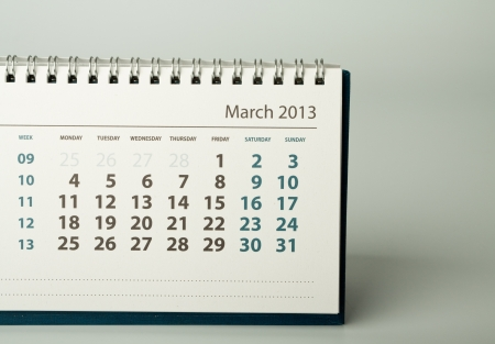 March. Calendar sheet. 2013 year calendar Stock Photo - 17778403