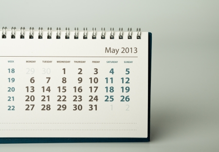 May. Calendar sheet. 2013 year calendar Stock Photo - 17778399