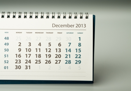 December. Calendar sheet. 2013 year calendar Stock Photo - 17778408