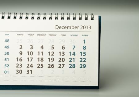 December. Calendar sheet. 2013 year calendar Stock Photo - 17778408