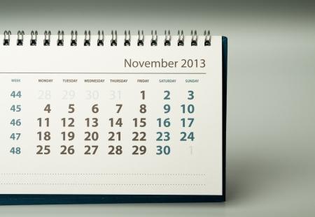 November. Calendar sheet. 2013 year calendar Stock Photo - 17778409