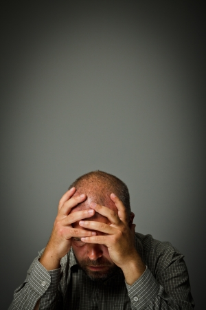 Headache  Expressions, feelings and moods  Man suffering from headache Stock Photo