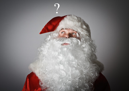 miraculous: Santa Claus and question mark above head.