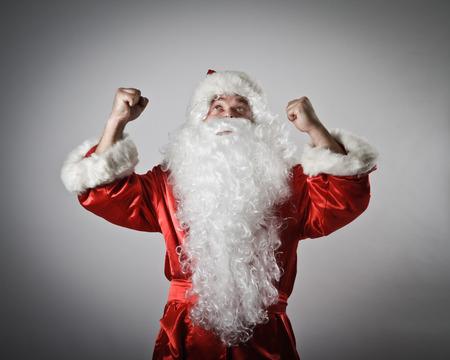 rejoicing: Rejoicing Santa Claus. Success concept.