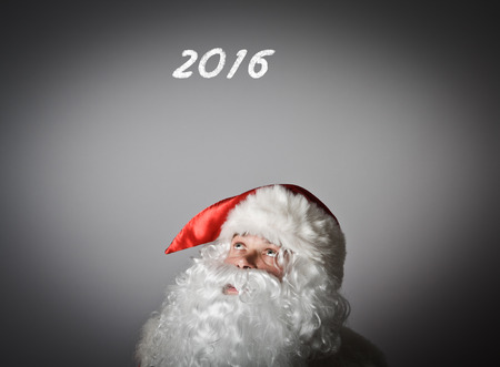 sixteen year old: Santa Claus and two thousand sixteen. Concept of New Year.