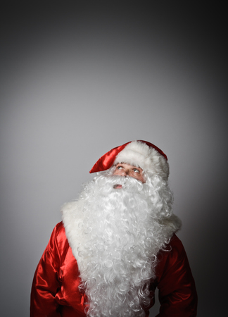 hesitation: Santa Claus is full of doubts and hesitation.