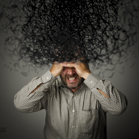 slur: Man and chaos in mind. Frustrated man.
