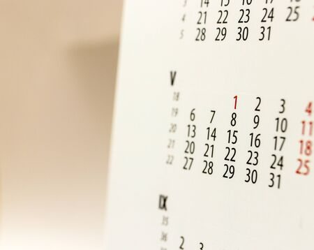 Calendar sheet. Calendar of the year two thousand nineteen. May. Stock Photo